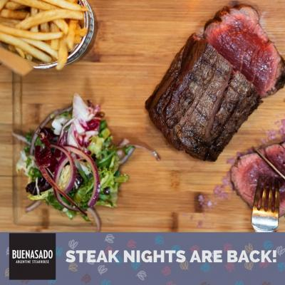 Steak nights are back in Walton-on-Thames following the reopening of Buenasado Steakhouse this coming Monday - Book your table today 01932 242 720⠀ ⠀ #waltononthames #heartshopping #walton #waltonsurrey #lovewalton #food #foodie #steaknight #reopening #buenasado #steakhouse #instadaily
