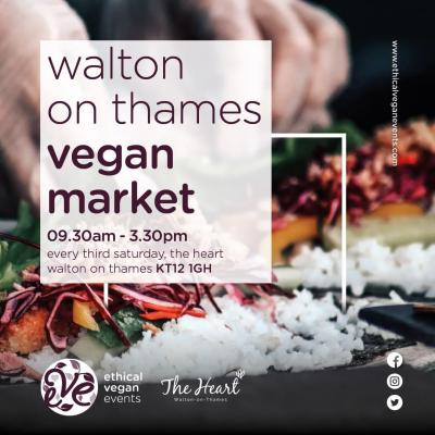 🍉 SEE YOU TOMORROW 🍉  If you didn't know already, our amazing Vegan Market returns to The Heart tomorrow between 9.30 am and 3.30 pm! 😍  It's guaranteed to be an amazing market so we look forward to seeing you all bright and early tomorrow!   #waltononthames #heartshopping #veganmarket #lovewalton