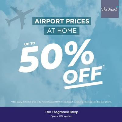 ✈️AIRPORT PRICES AT HOME✈️⠀ ⠀ Head over to @FragranceShopUK for up to 50% off on selected fragrances before Monday 27th July! ⠀ ⠀ #TheFragranceShop #Perfumes #SpecialOffers