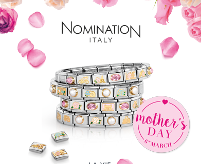 Nomination Italy - La Vie en Rose. Composable Collection now available at  Hersey Silversmiths Walton-On-Thames cafbb8bda
